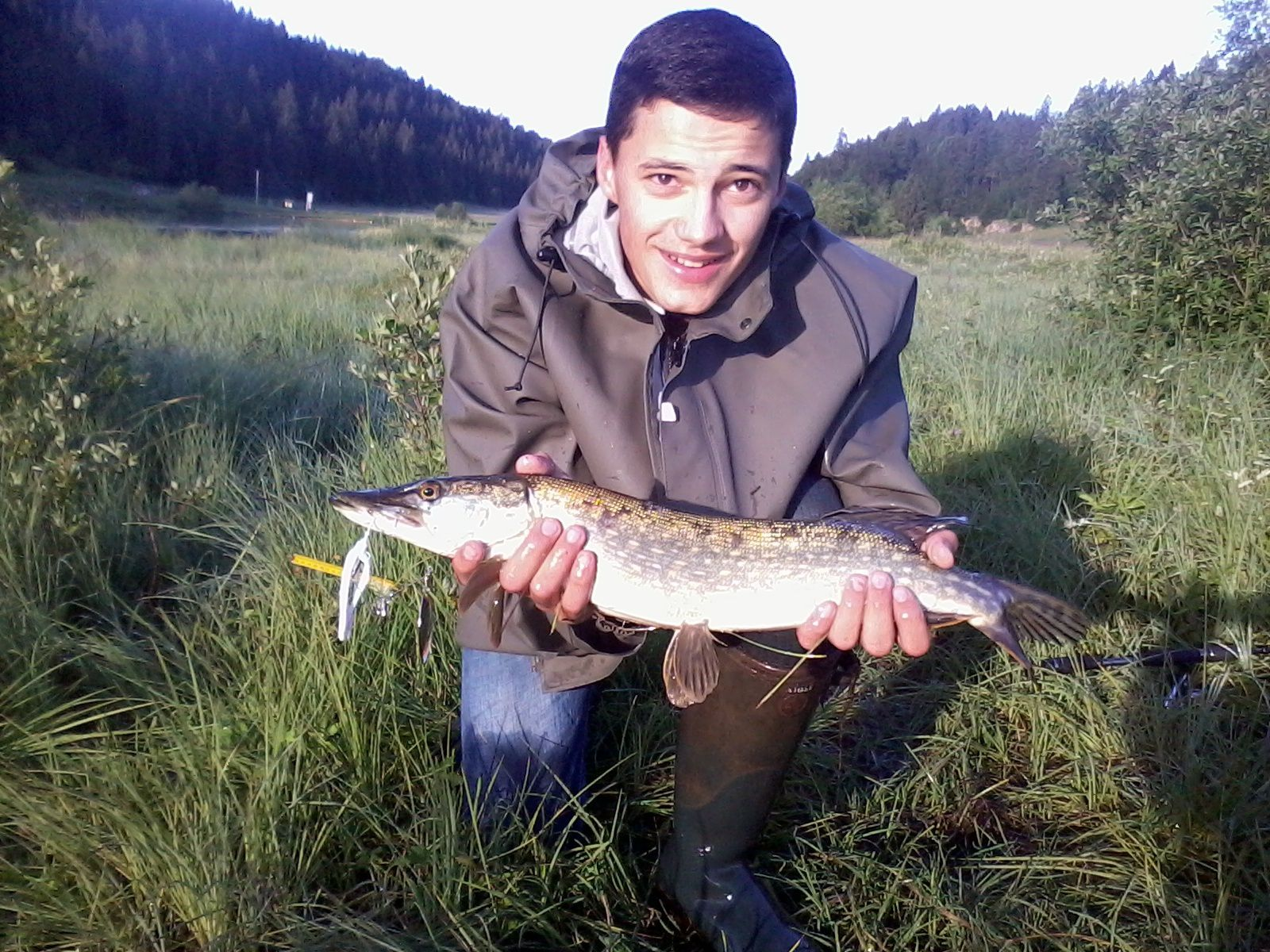 Brochet du lac de lamoura (55cm)... merci Max &#x3B;)