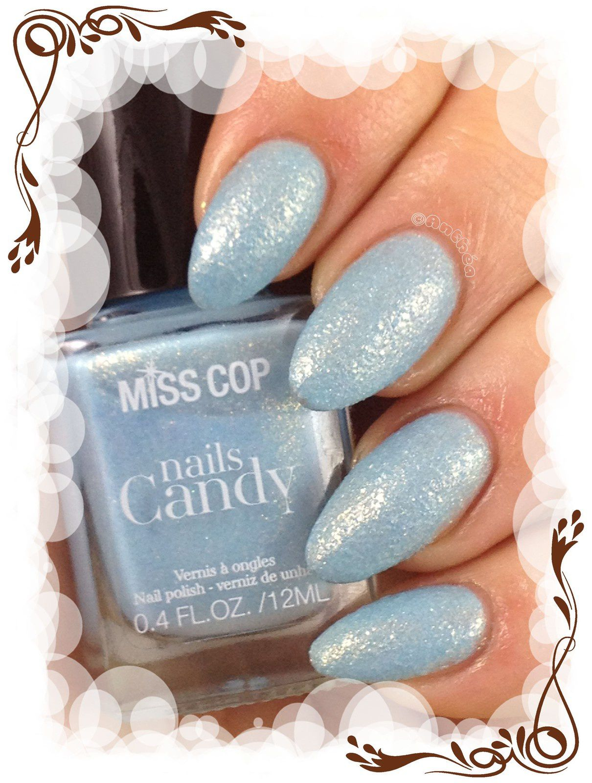 Candy nails n°02 Kiss mint by Miss cop