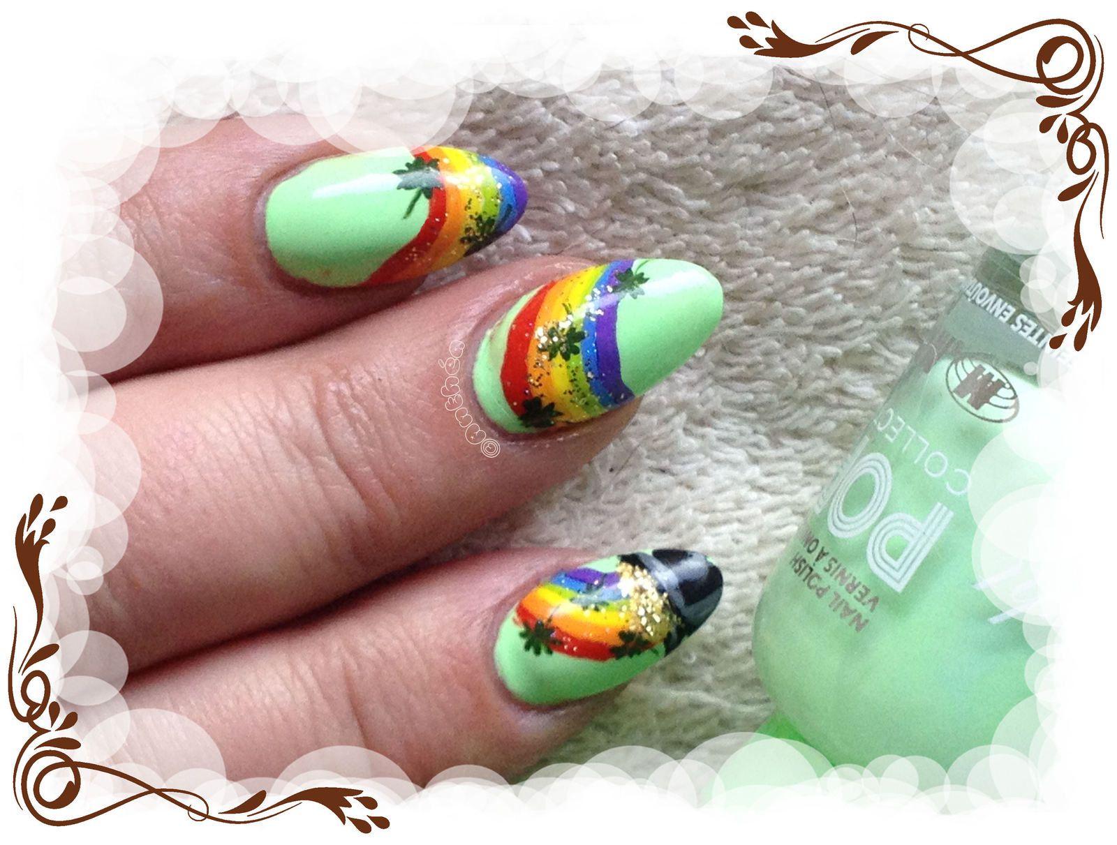 Nail art Saint Patrick