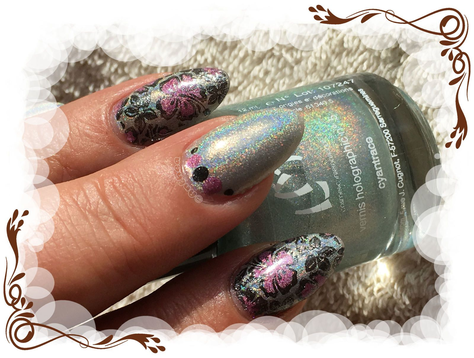 Stamping reverse holographique