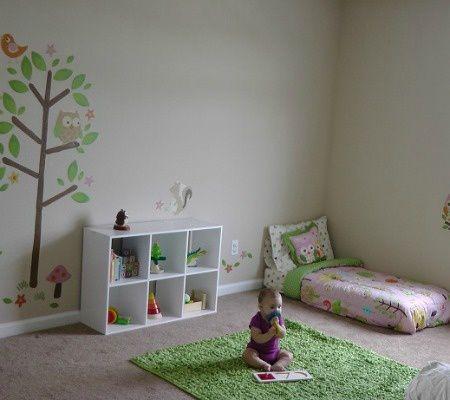 Exemple de chambres Montessori trouvées sur internet (lien intégré à l'image)