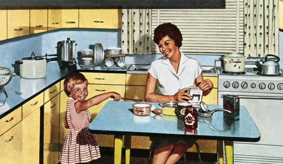 Pour un enfance heureuse tre m re au foyer my sweet for Femme au foyer annees 50
