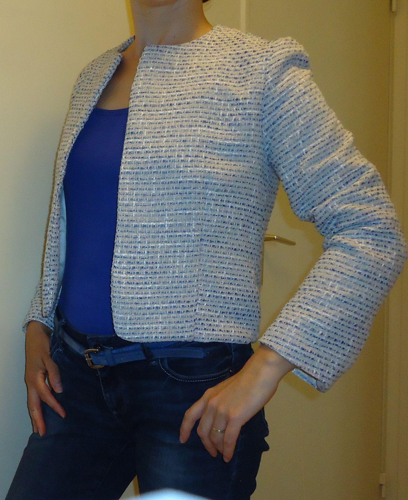 Veste style Chanel terminée!!!!!