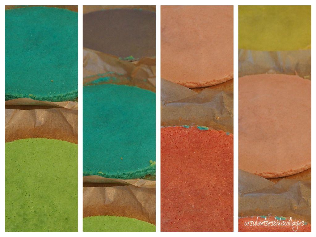 préparatifs du gâteau multicolore