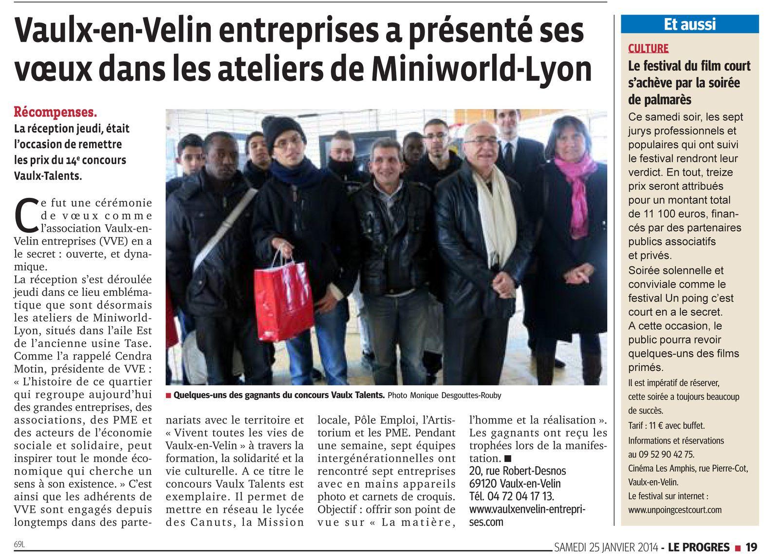 Le Progrès de Lyon du samedi 25 janvier 2014.