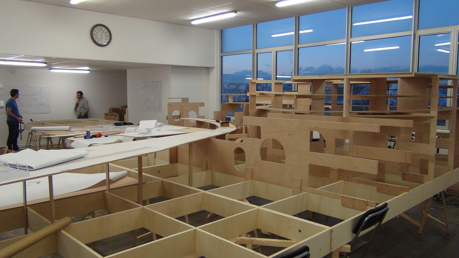 Construction de la partie gauche de la ville - 7 Février 2014 Mini World Lyon