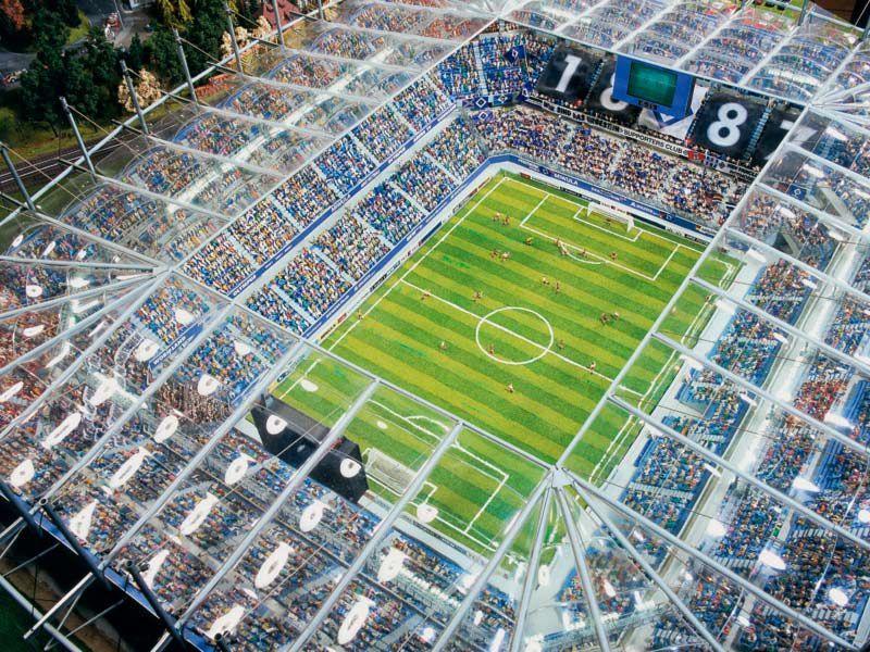 Stade de Football de Hambourg et Stade de Gerland en miniature