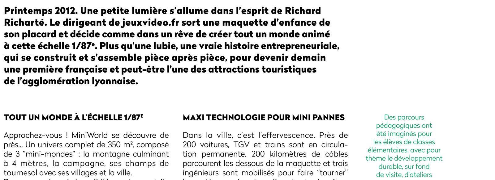 Article dans le magazine du Grand Lyon &quot&#x3B;The Only&quot&#x3B;