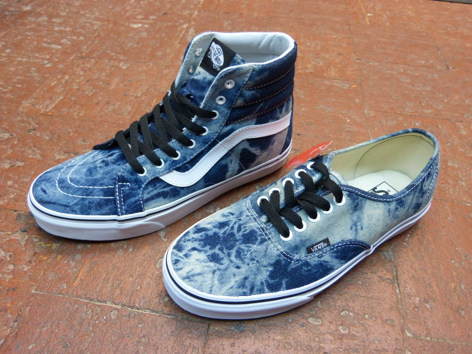 Vans Acide Denim &amp&#x3B; Leather Croco Pack