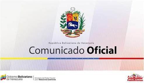 Communiqué du MAE vénézuélien condamnant les déclarations de D. Trump