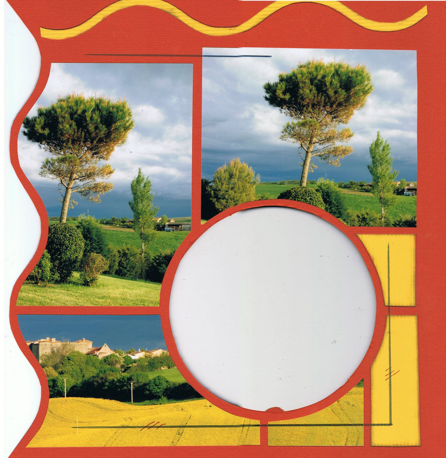 Avec une photo grand format j'ai immortalisé la vue que nous avons sur le château de Mézerville par un soir de printemps et d'orage sur les champs de colza. Bonne journée à tous et toutes