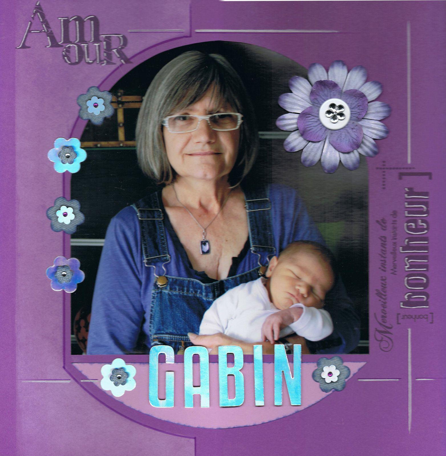 Gabin et sa Mamie Tinou. Bonne fête à toutes les Mamans.