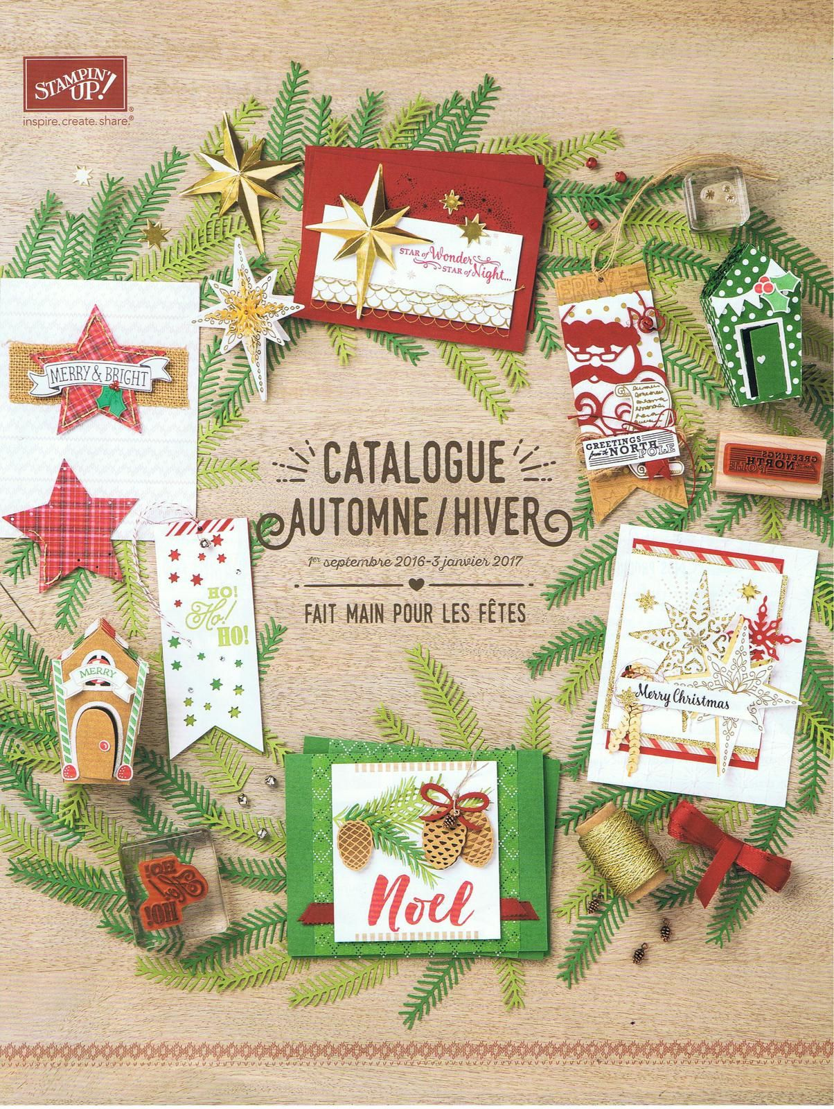 CATALOGUE STAMPIN'UP HIVER 2016