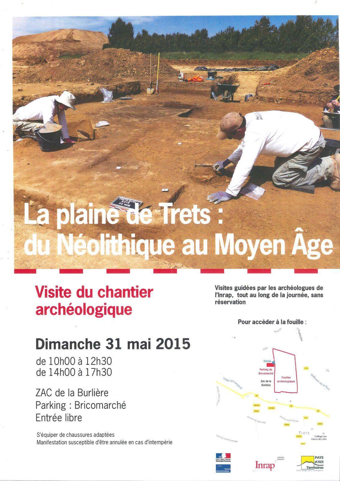 Visite d'un chantier archéologique à Trets