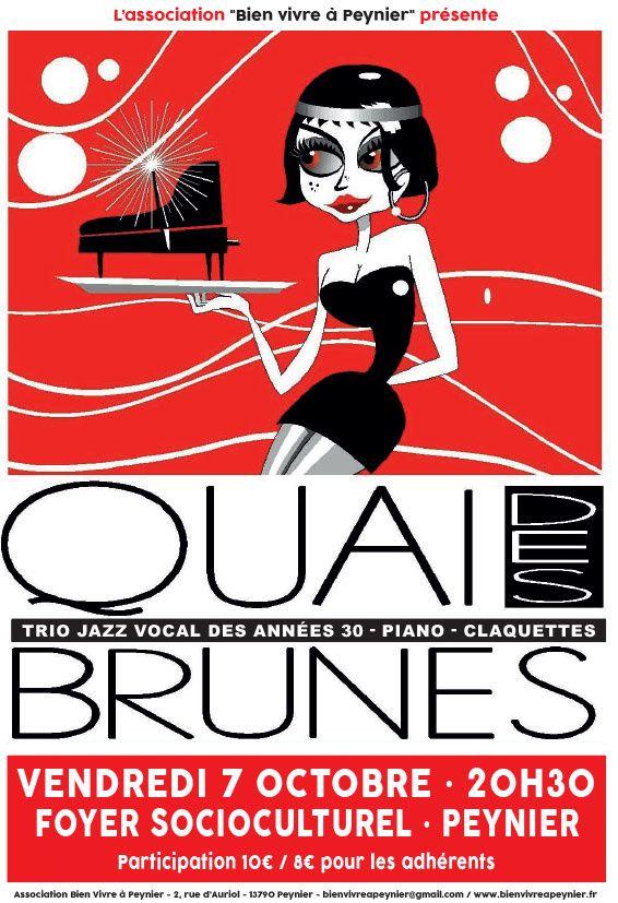 Concert &quot&#x3B;Quai des Brunes&quot&#x3B; - Vendredi 7 octobre à Peynier
