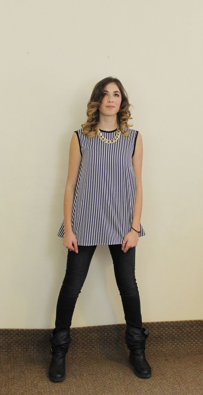 Top Gigi, une petite blouse sans manches  qui s'adapte à tous les looks