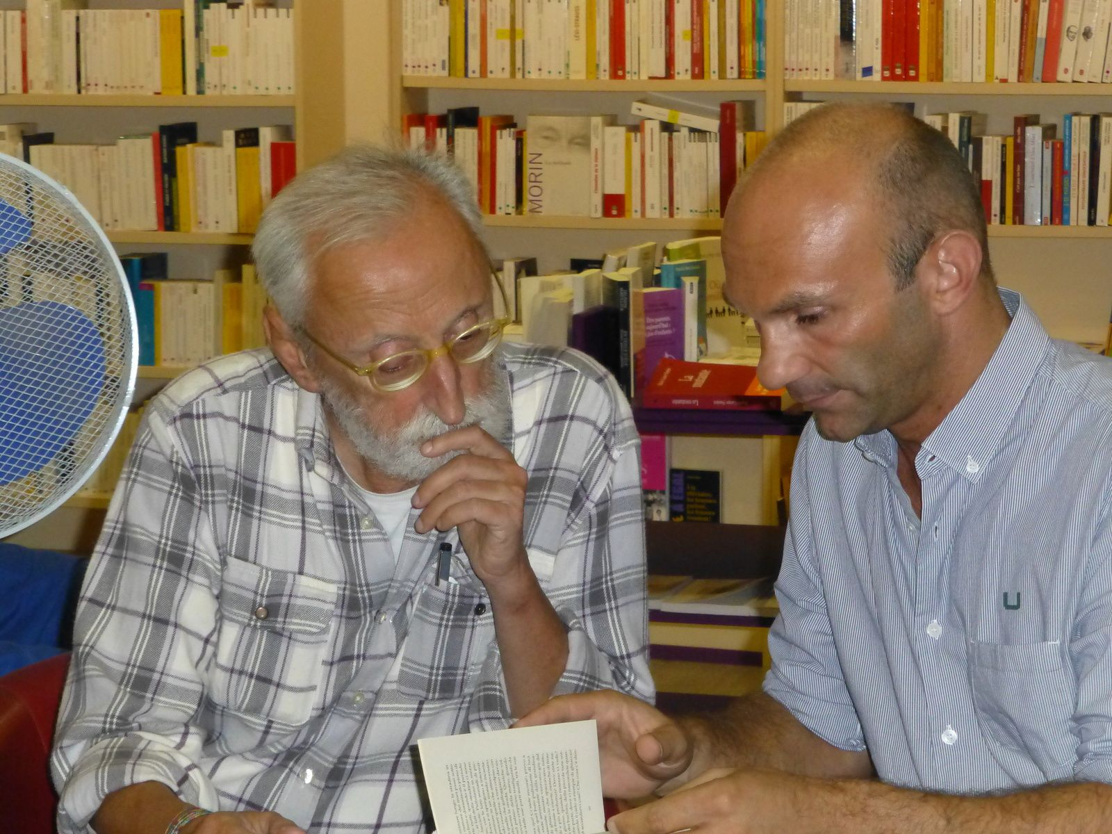 Antonio Moresco et son traducteur Laurent Lombard au Grain des Mots le 26 Septembre 2014