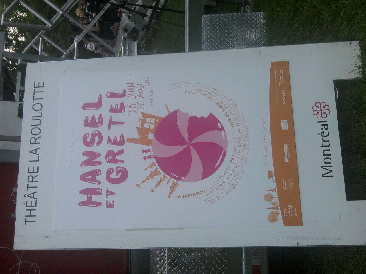 """L'affiche du spectacle """"Hansel et Gretel"""" en 2013."""