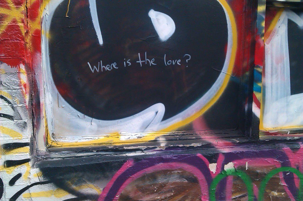 """""""Où est l'amour ?"""" se demande cet anonyme soucieux."""