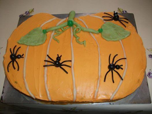 gâteau citrouille  halloween