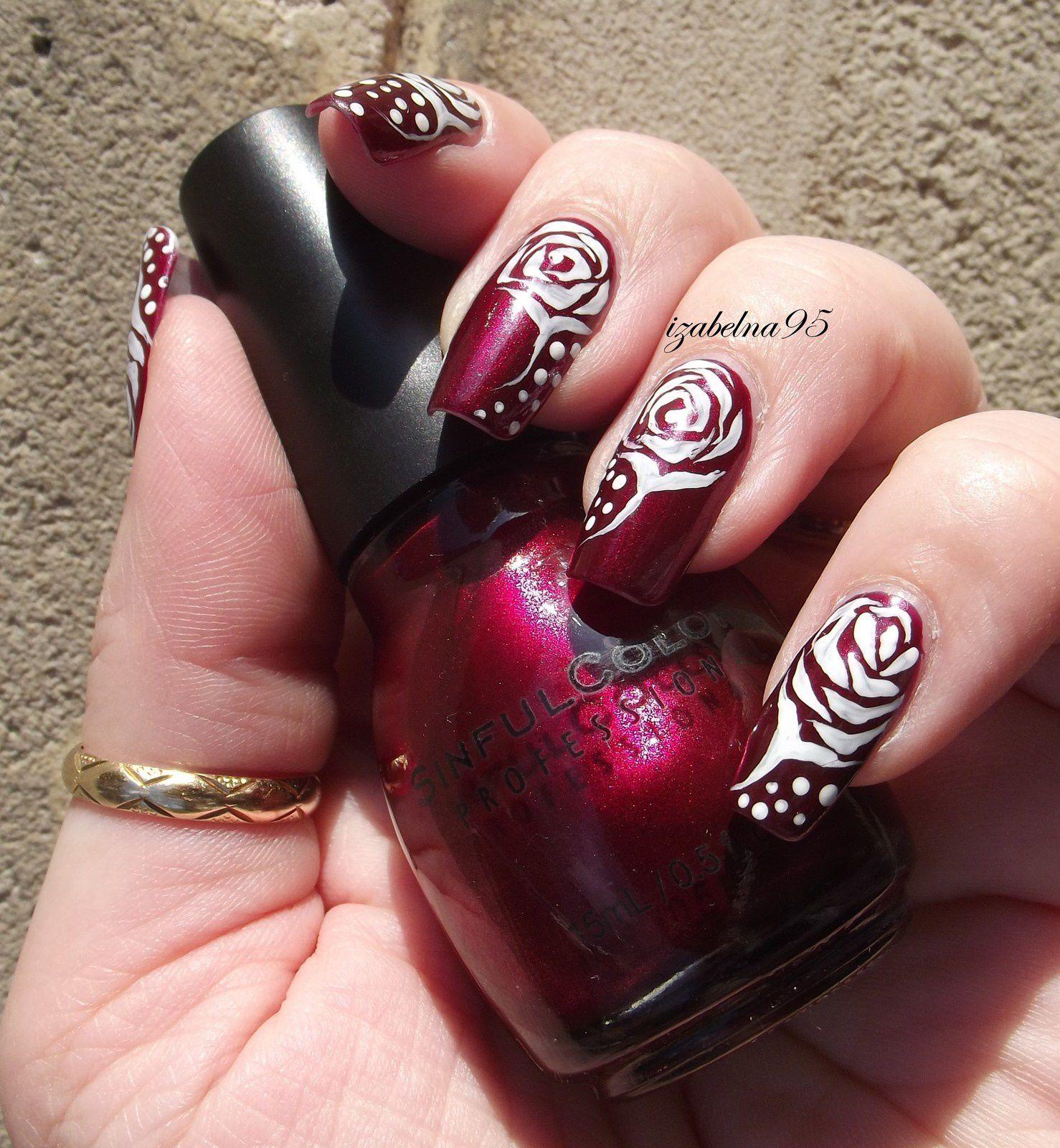 Bouton rose tribal SINFUL Merlot