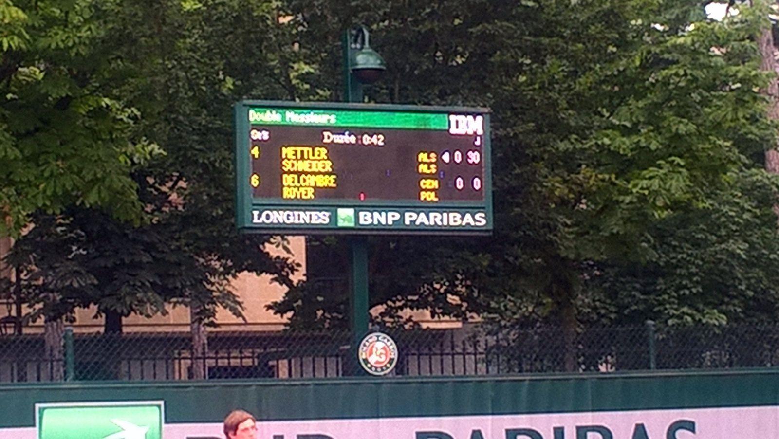 Le 1er Roland Garros de Jean Mettler