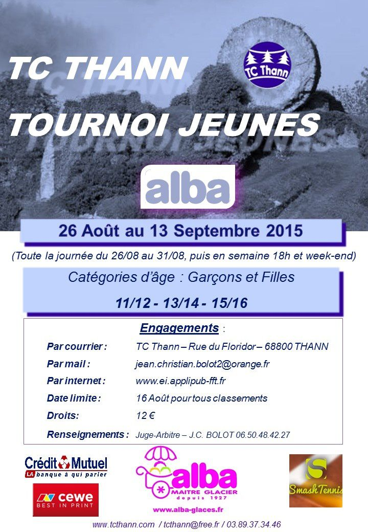 Tournoi Jeunes Alba 2015 du TC Thann