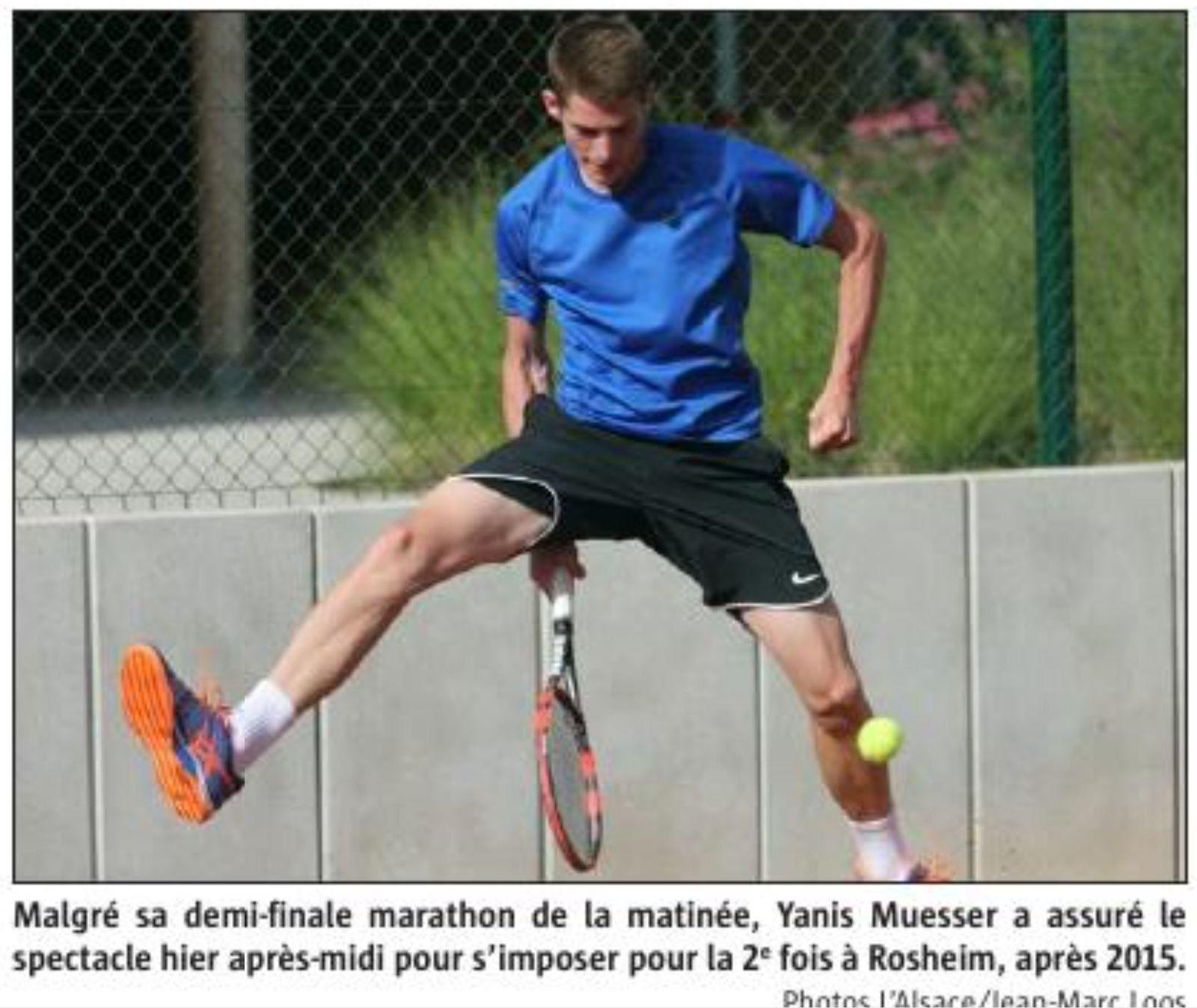 Yanis s'arrachant à la course de la crémation à Thann le 30 juin...
