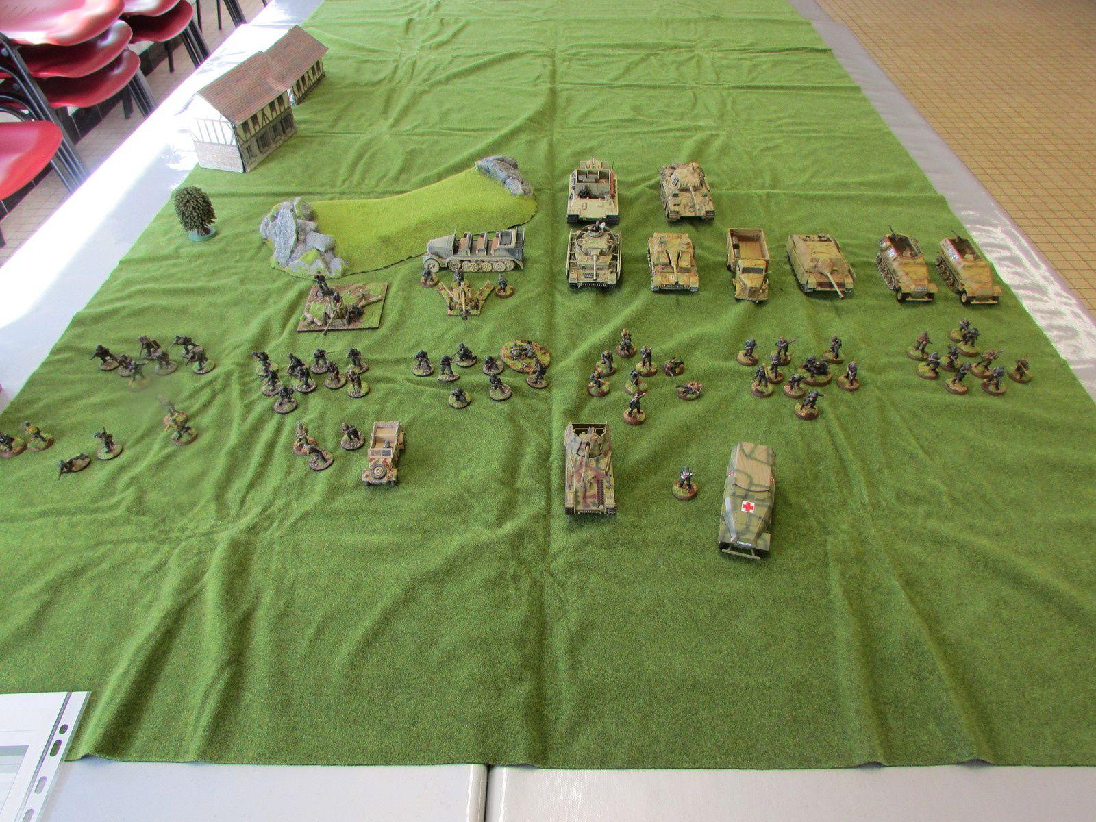Les paras ne sont pas encore arrivé à cette heure la.... Hmg, panzershreck et deux squad vétéran.