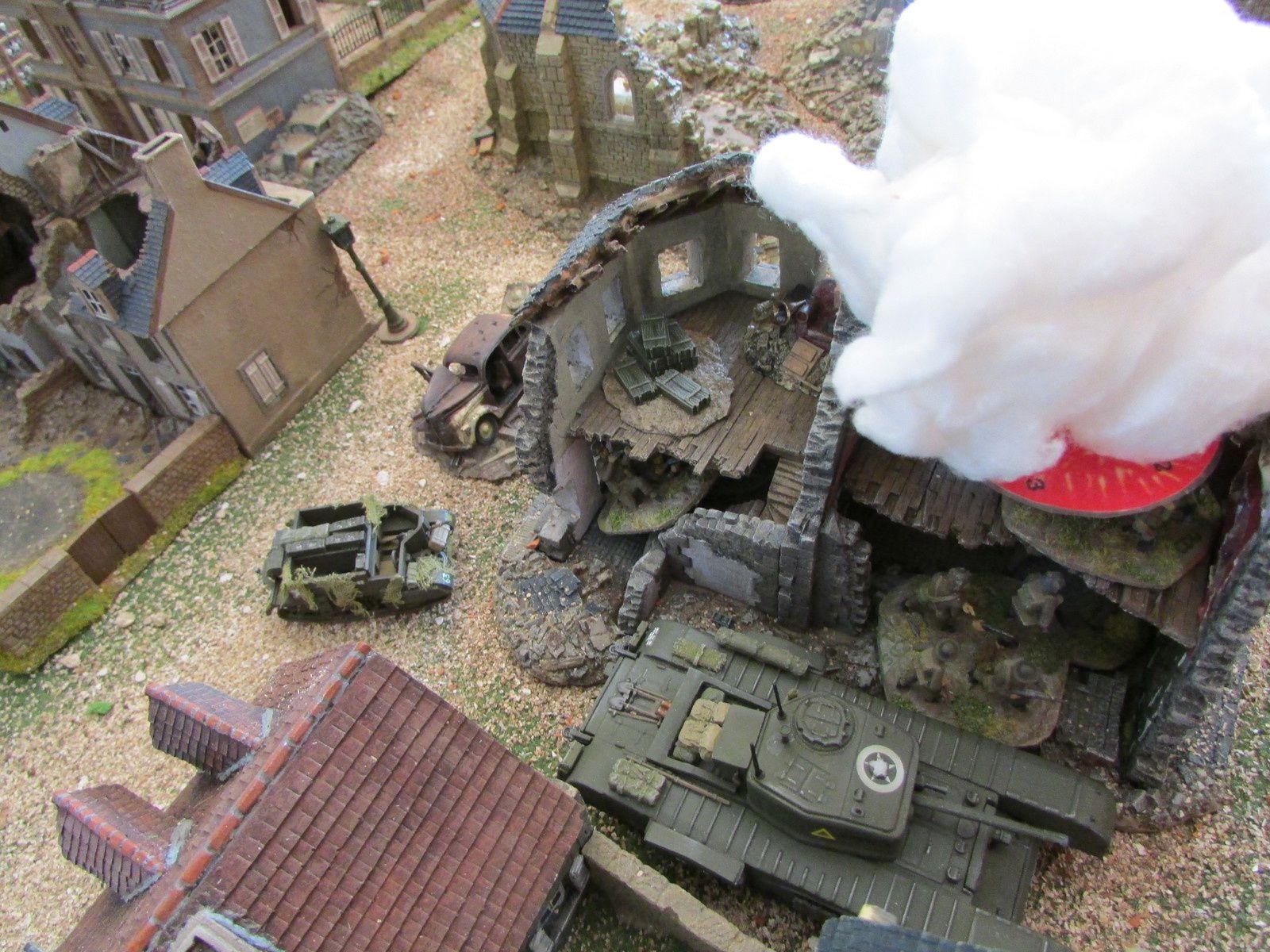 Un observateur demande un test de tir au fumigène pour voir si la sible est le mortier peuvent devenir inseparable. Boum, tabernacle!!!!! Manque de bol, le fumigène tombe sur la poire de l'observateur est d'une section d'infanterie.