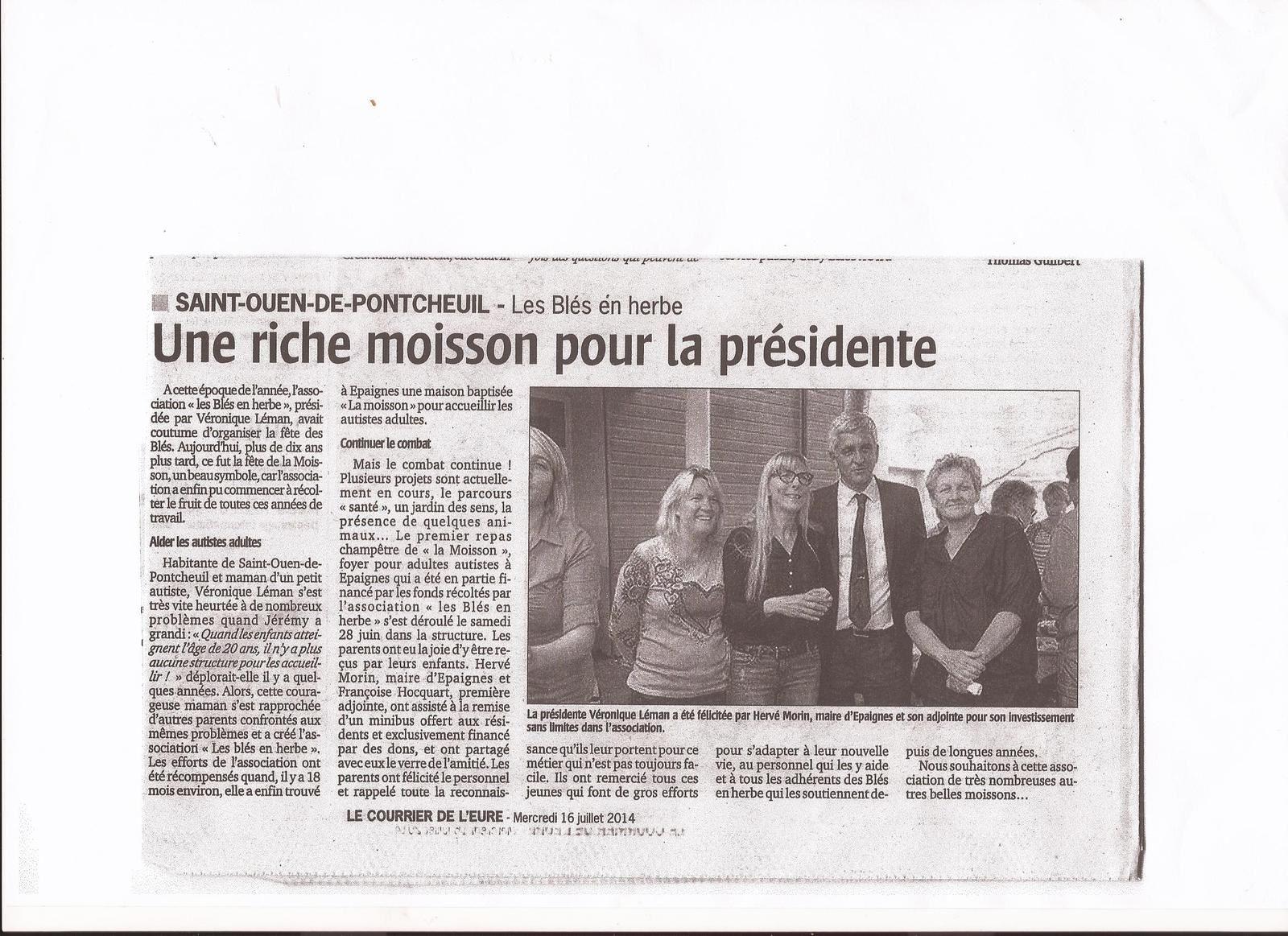 Articles suite Repas champêtre La Moisson. 28 juin 2014