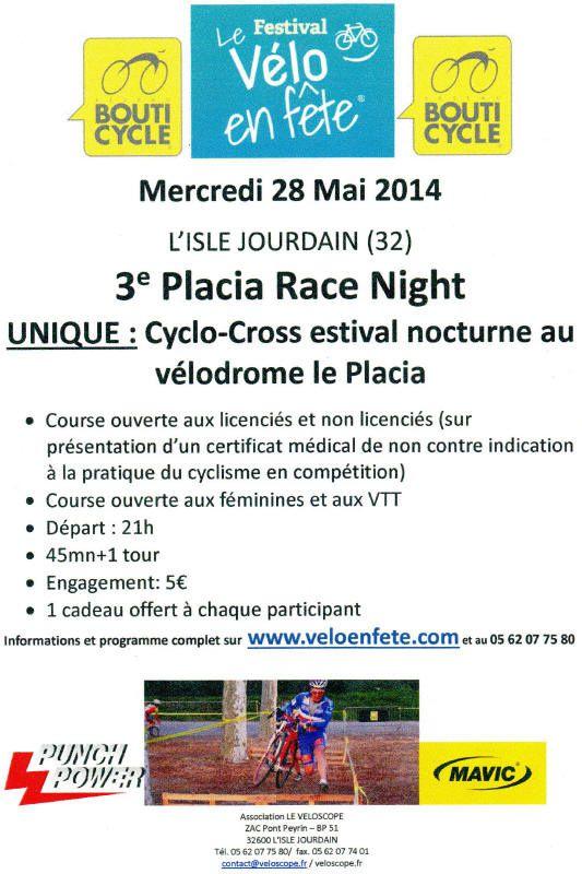 3ème Placia Race night