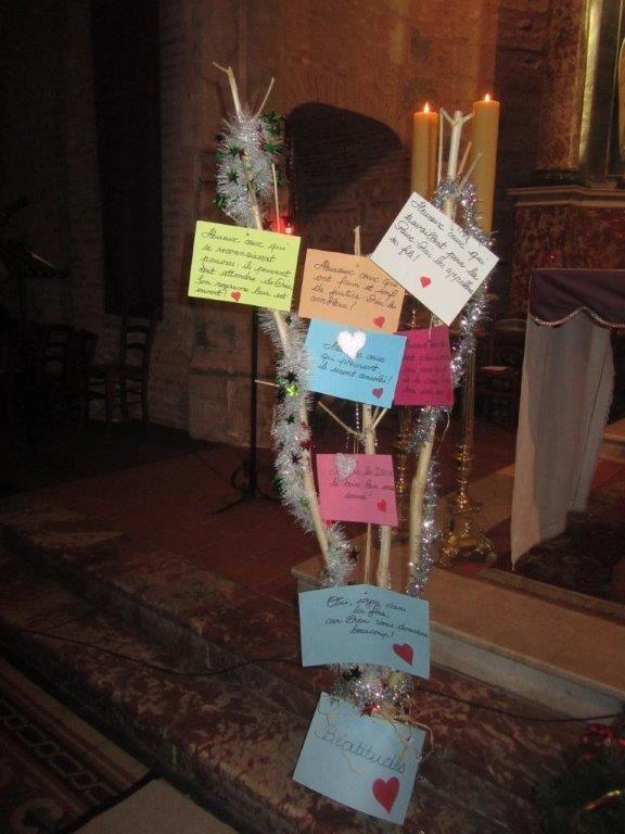 L'arbre des Béatitudes, réalisé par les enfants du KT