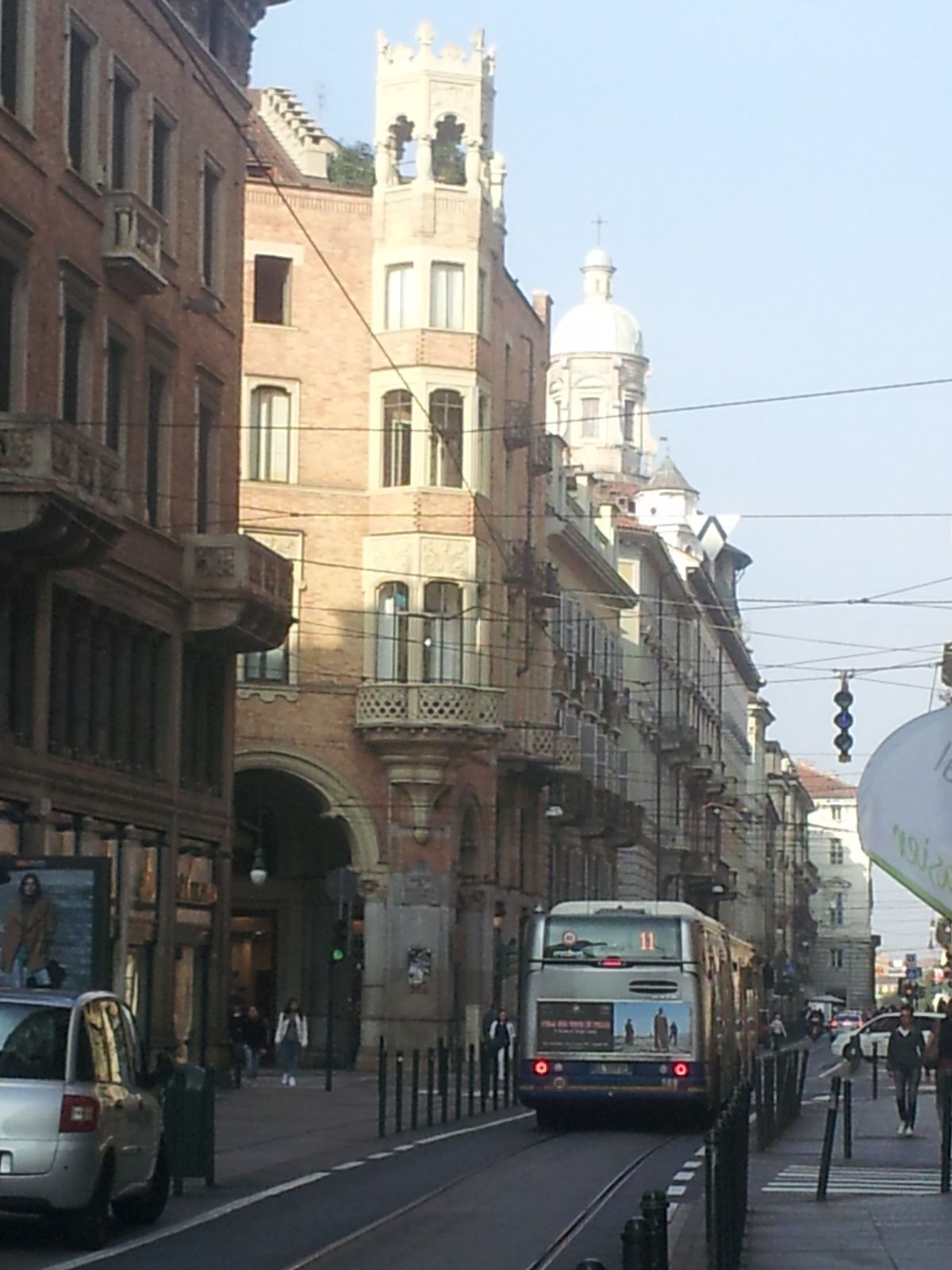 Turin ville des arcades et son tram