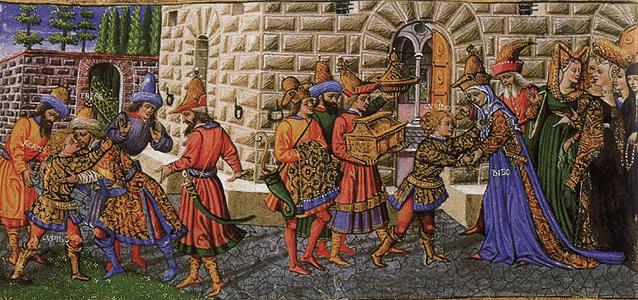 La prospérité à Florence Corrompt l'Église et falsifie la Doctrine (peinture de Cosme)