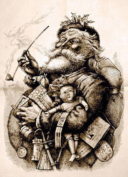 Représentation de Santa Claus par Thomas Nast (1881)