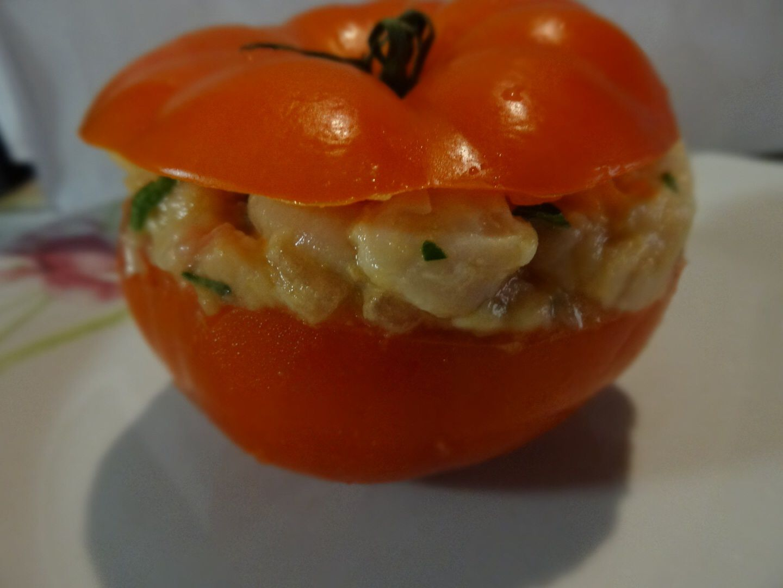 Tomates farcies au poulet de Mathilde ,Guillaume et moi ;)