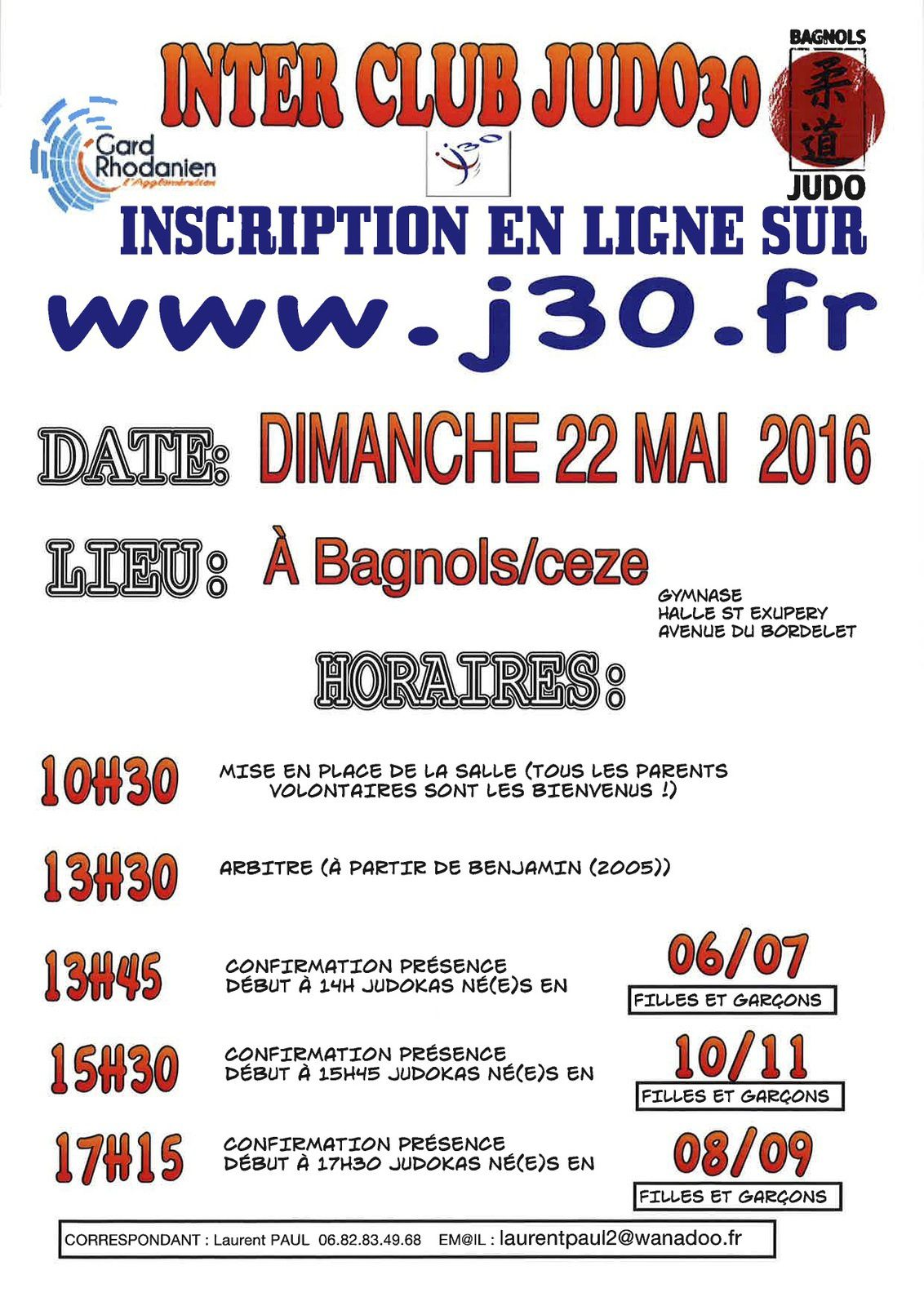 Interclub de Bagnols JUDO 2016