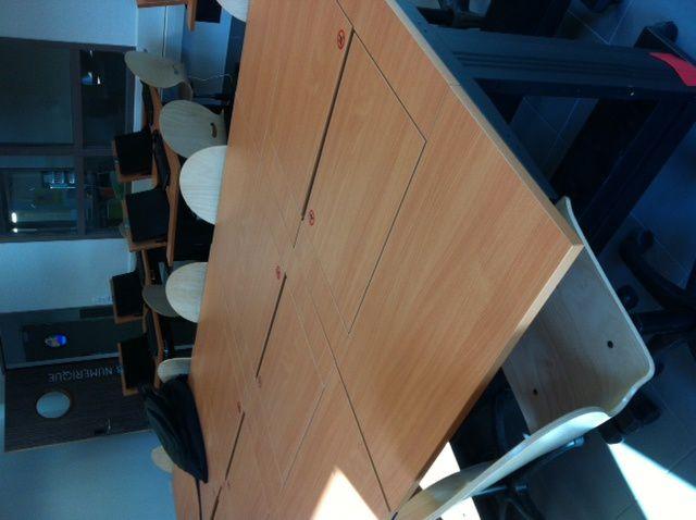 Exemple de mobiliers avec tablette amovible (CFA BTP de Blois)
