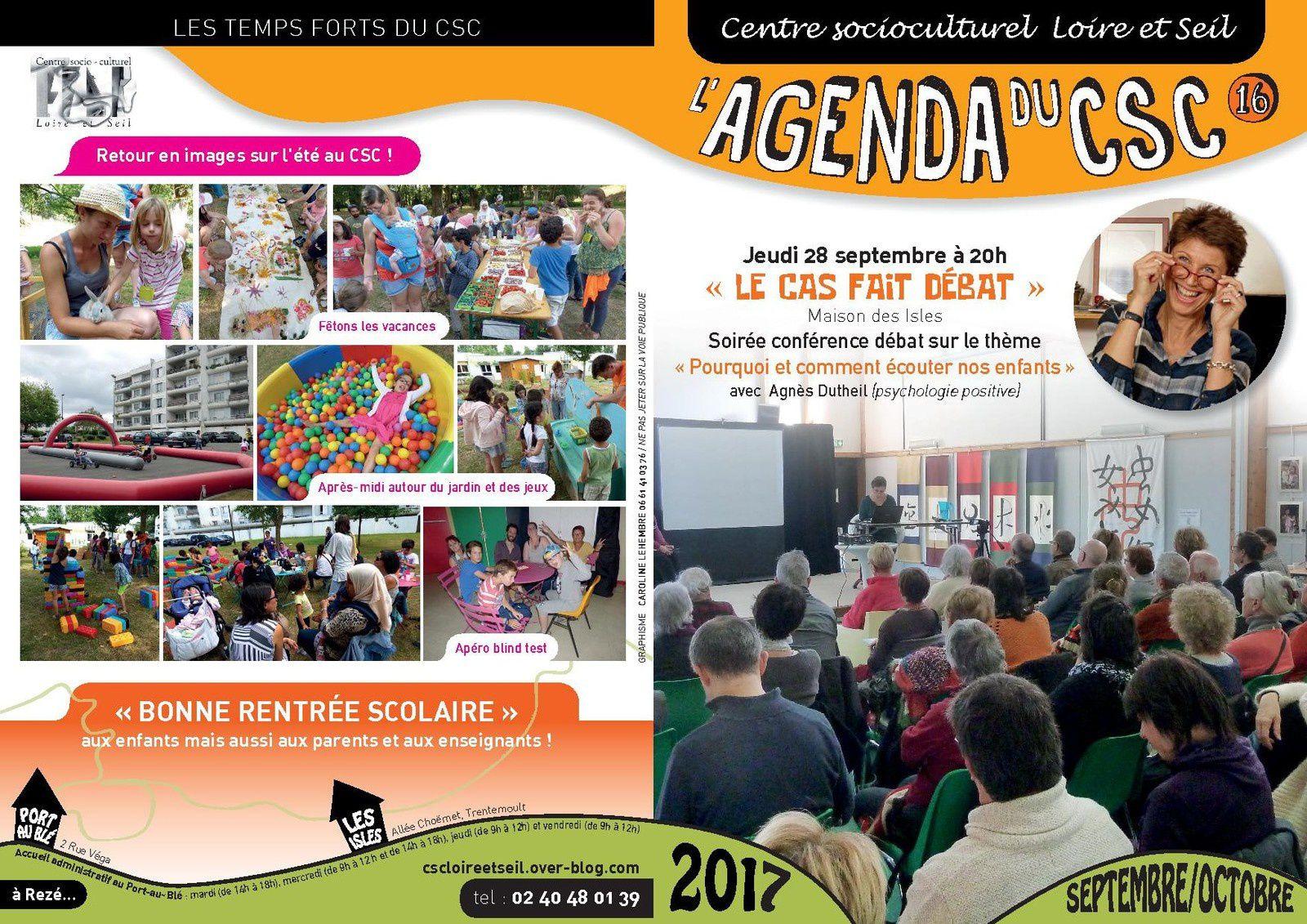 Agenda Septembre Octobre 2017 :  Reprise des activités la semaine du 25 septembre !