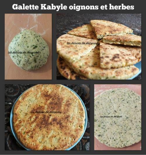 Galette Kabyle aux oignons et herbes