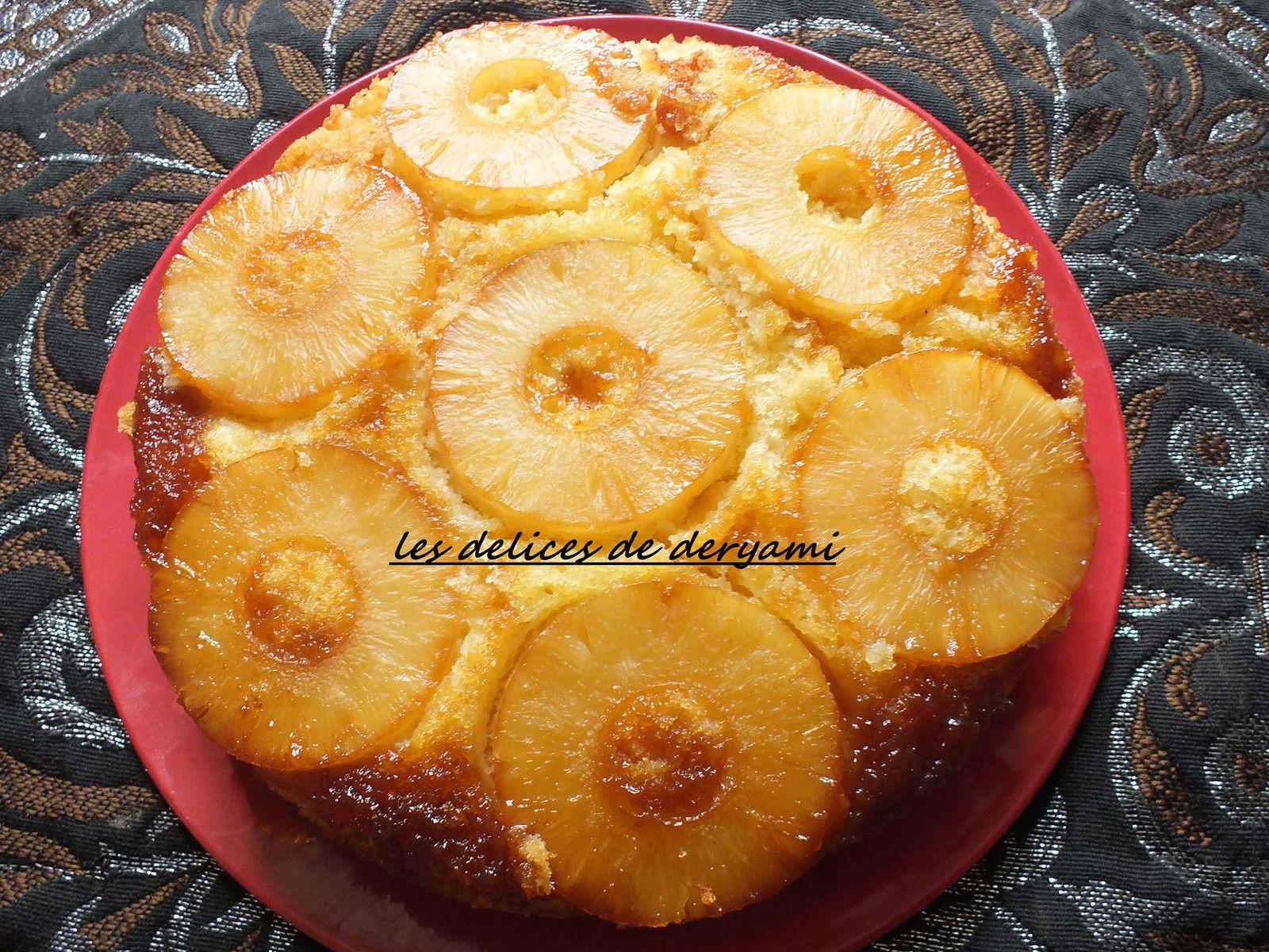 Gateau à l'ananas caramélisé