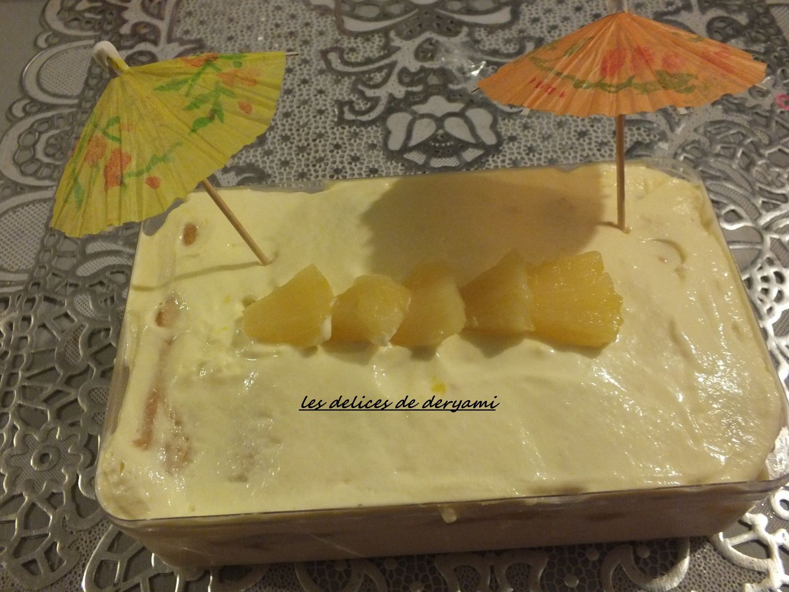 Mon tiramisu des iles (ananas et mangue )
