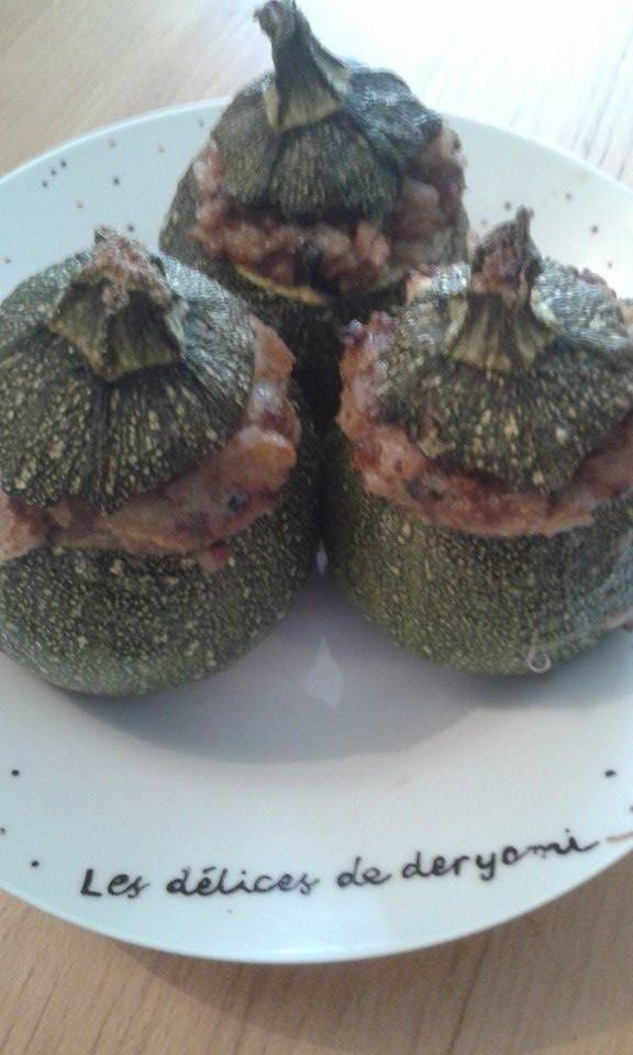Mes courgettes rondes farcies