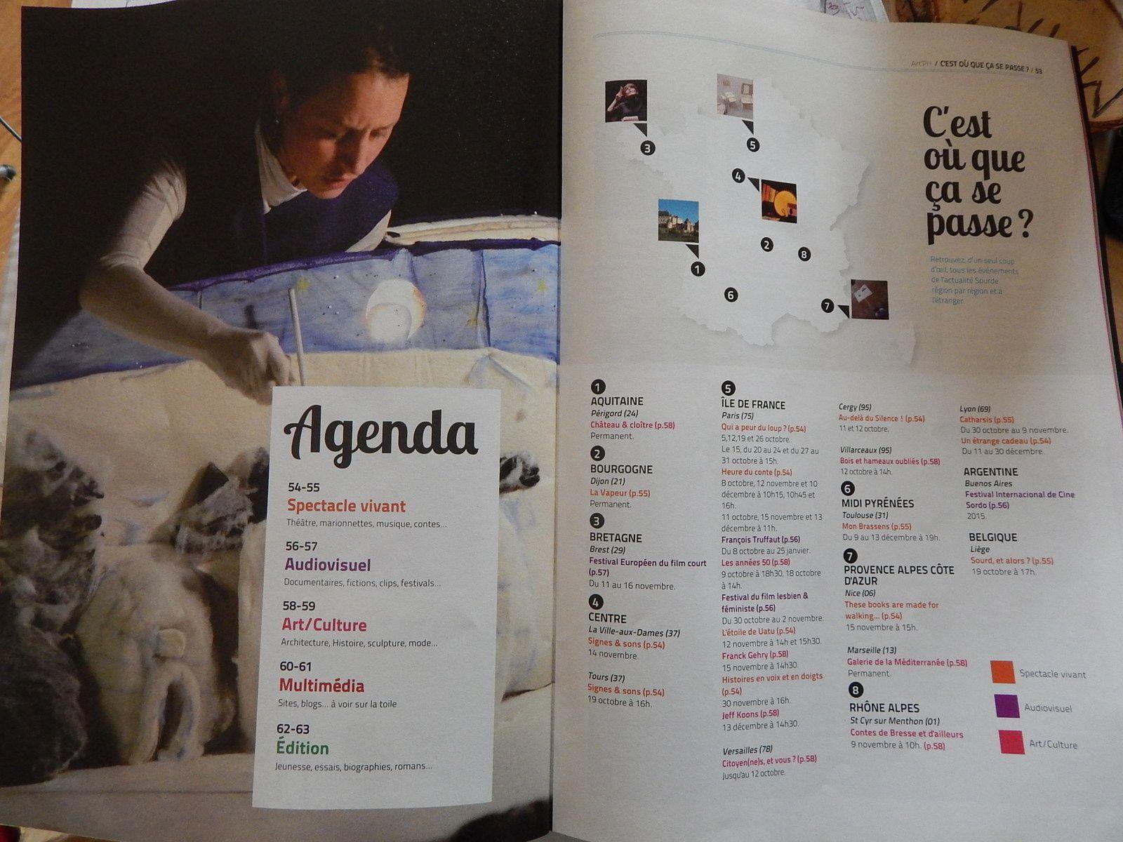 Art'Pi Parution Automne 2014 ( Magazine d'Art Sourd)