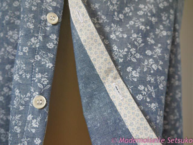 Chambray fleuri