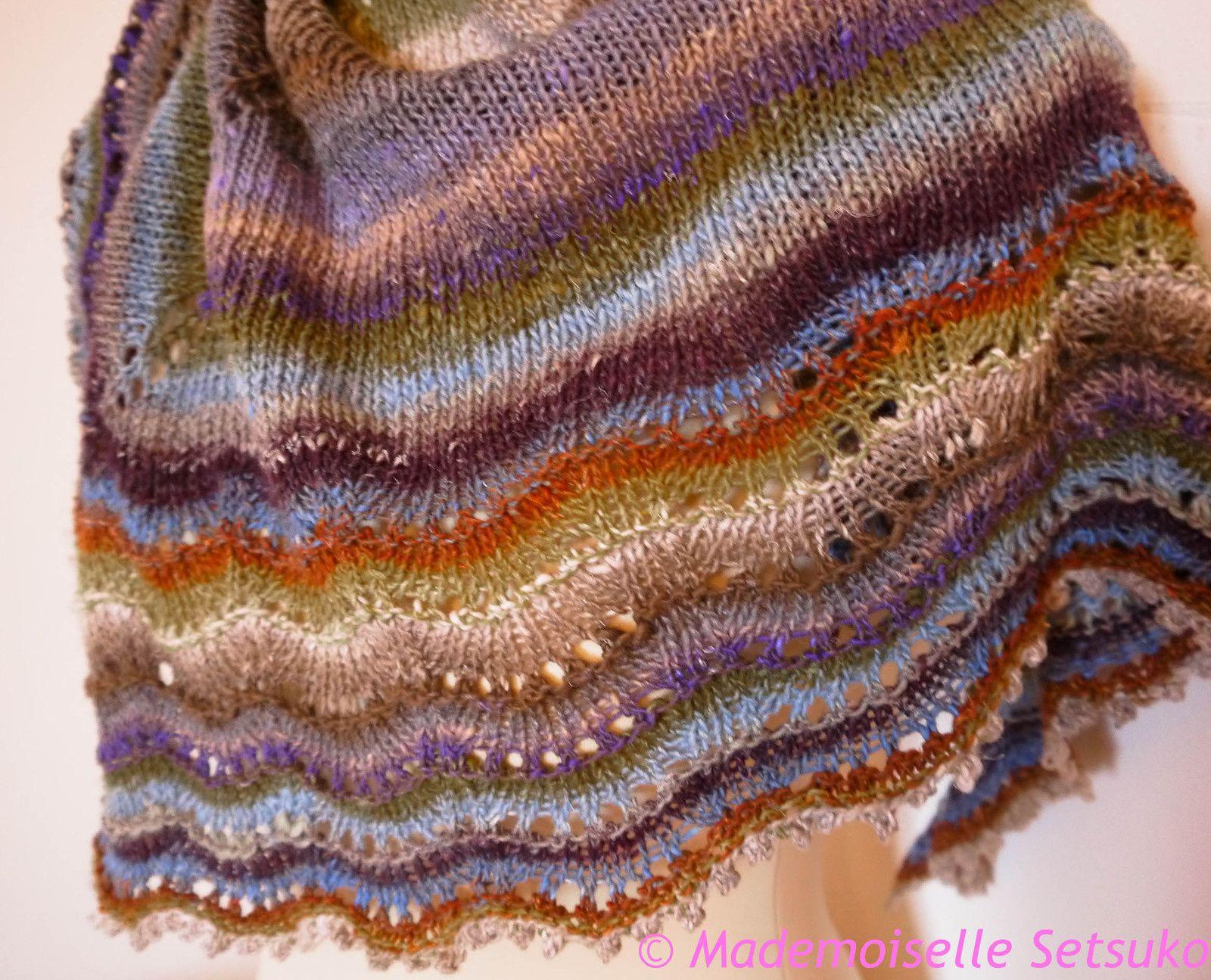 Holden shawlette et noro