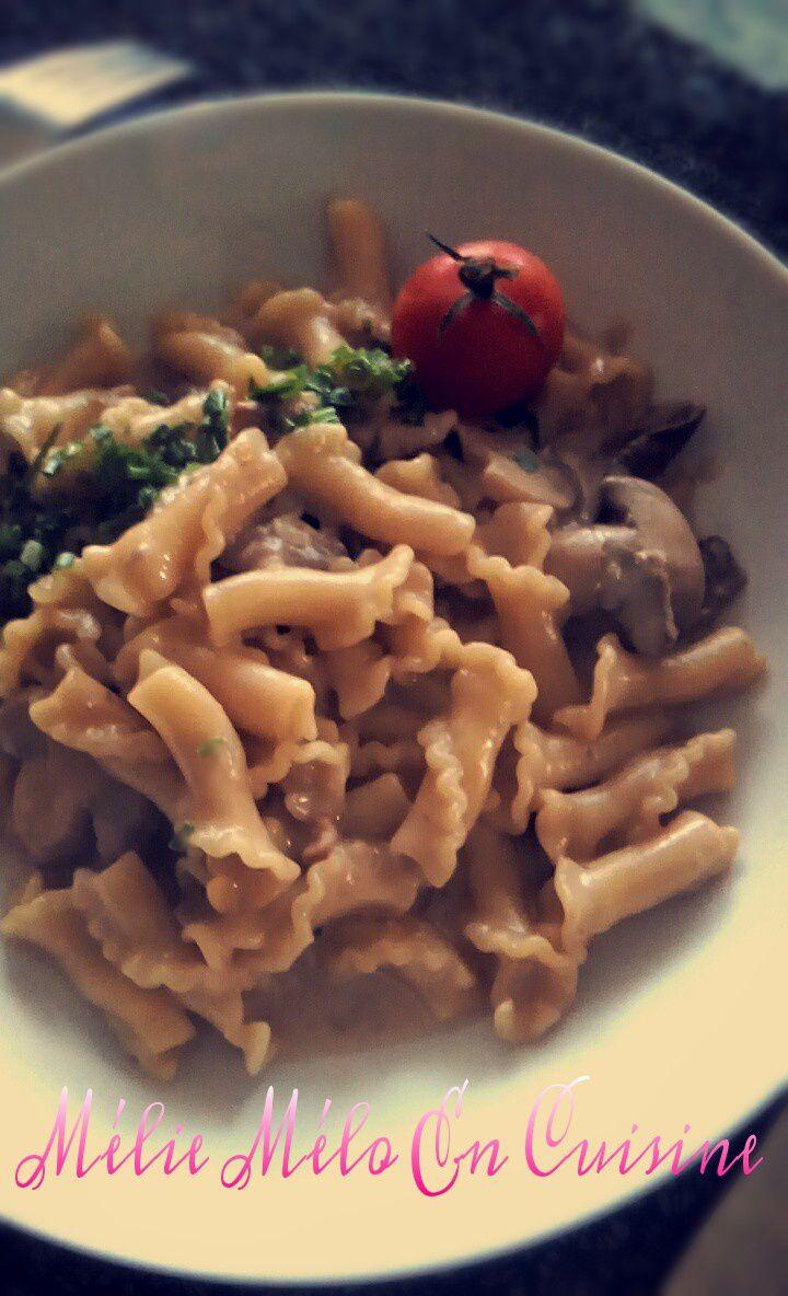 One pot pasta aux cèpes et aux lardons ( avec ou sans thermomix )