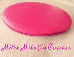 Macaron à partager chocolat tonka et framboise ( avec ou sans thermomix )
