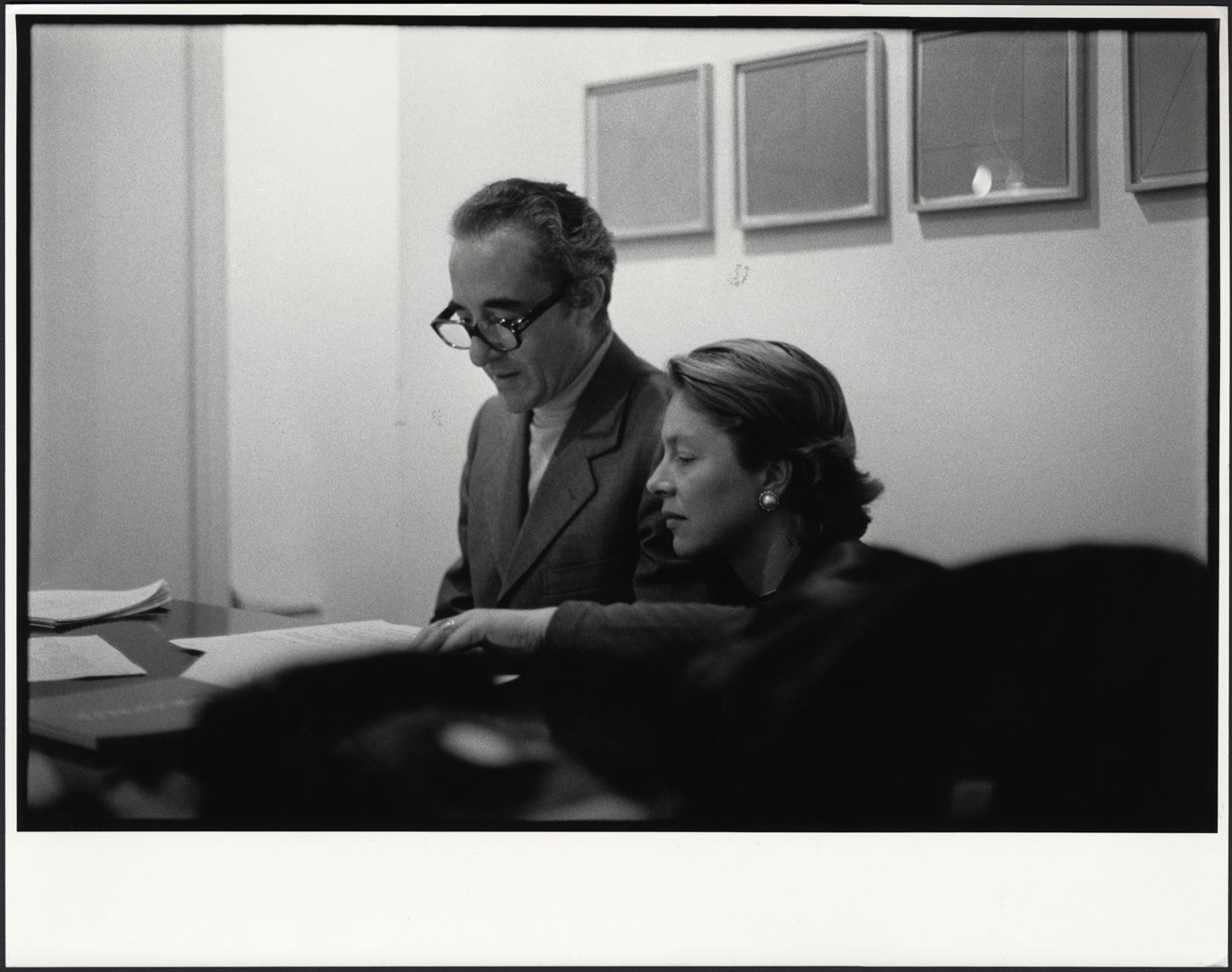 Giuseppe et Giovanna Panza à la Leo Castelli Gallery de New York, 1975. Photo crédit Filippo Formenti, Milano